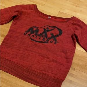 The Max Challenge off the shoulder sweatshirt
